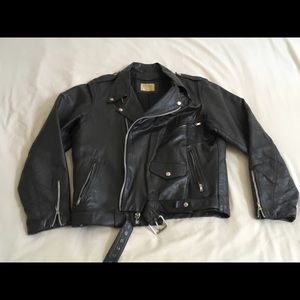 SALE,  Price low30%. Leather Jacket, Vintage Biker
